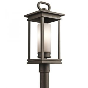 """Kichler South Hope 1-Light 21.5"""" Outdoor Post Lantern in Rubbed Bronze"""