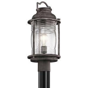 Kichler Ashland Bay Outdoor Post Lantern in Weathered Zinc