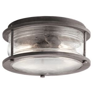 Kichler Ashland Bay 2-Light Outdoor Flush & Semi Flush in Weathered Zinc