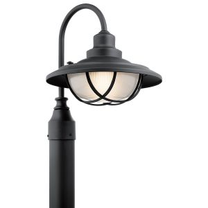 Kichler Harvest Ridge Outdoor Post Lantern in Textured Black