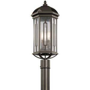 Kichler Galemore 3-Light Outdoor Post Lantern in Olde Bronze