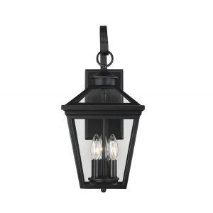 """Savoy House Ellijay 9"""" Steel Wall Lantern in Black"""