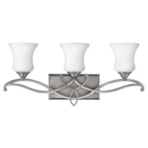 Hinkley Brooke 3-Light Bathroom Vanity Light in Antique Nickel