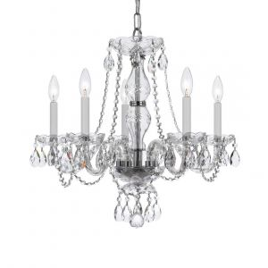 Crystorama Trad Crystal 5-Light Spectra Chandelier in Polished Chrome
