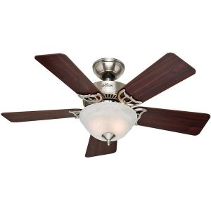 "Hunter Kensington 42"" Ceiling Fan in Brushed Nickel"