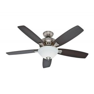 "Hunter Banyan 52"" Ceiling Fan in Brushed Nickel"