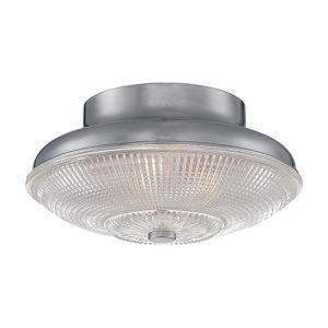 Millennium Lighting Neo-Industrial 1-Light Flush Mount in Brushed Nickel