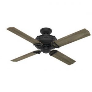 "Hunter Brunswick 52"" Ceiling Fan in Iron/Pewter"