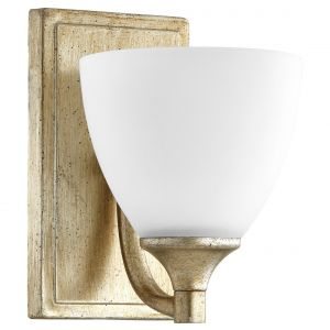 """Quorum International Enclave 8"""" Wall Sconce in Aged Silver Leaf"""