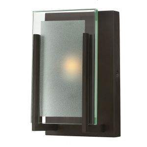 Hinkley Latitude 1-Light LED Bathroom Wall Sconce in Oil Rubbed Bronze