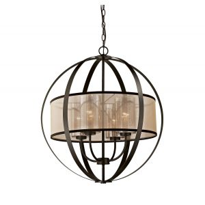 Elk Lighting Diffusion 4-Light Chandelier in Oil Rubbed Bronze