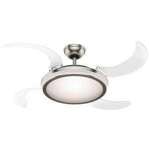 "Hunter Fanaway 48"" Indoor Ceiling Fan in Brushed Nickel/Chrome"