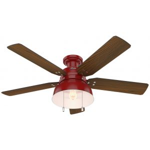 "Hunter Mill Valley 52"" LED Ceiling Fan in Medium Walnut"