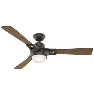 "Hunter Signal 54"" LED Smart Ceiling Fan in Noble Bronze"