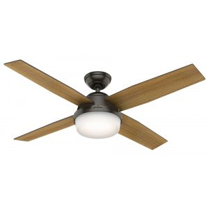 """Hunter Dempsey 52"""" LED Indoor Ceiling Fan in Noble Bronze"""