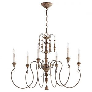 "Quorum International Salento 6-Light 28"" Transitional Chandelier in Vintage Copper"