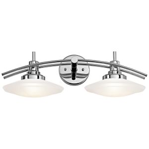 Kichler Structures 2-Light Bath Wall Mount in Chrome