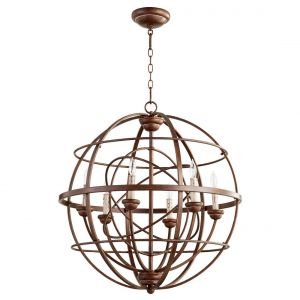 "Quorum International Salento 6-Light 29"" Transitional Chandelier in Vintage Copper"