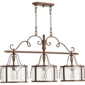 "Quorum International Salento 3-Light 12"" Ceiling Island Light in Vintage Copper"