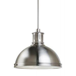 Sea Gull Lighting Pratt Street Metal 3-Light Pendant in Brushed Nickel