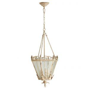 """Quorum International Salento 3-Light 15"""" Foyer Light in Persian White"""