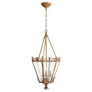 "Quorum International Salento 3-Light 15"" Foyer Light in French Umber"