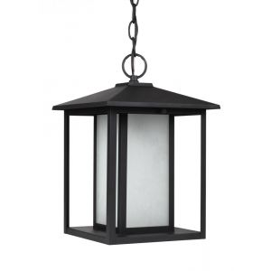 Sea Gull Lighting Hunnington One Light Outdoor Pendant in Black