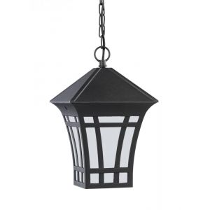 Sea Gull Lighting Herrington One Light Outdoor Pendant in Black
