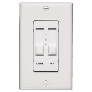 Quorum Fan Accessories 3-Speed/Dimming Wall Slide Control in White