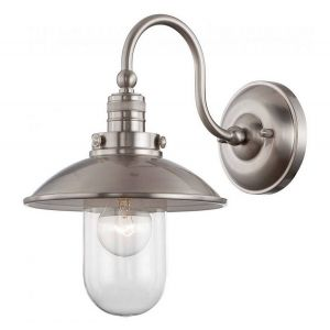 """Minka Lavery Downtown Edison 13"""" Wall Sconce in Brushed Nickel"""
