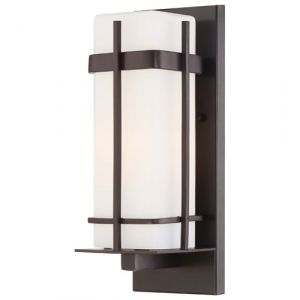 """The Great Outdoors Sterling Heights 13"""" Outdoor Wall Light in Dorian Bronze"""