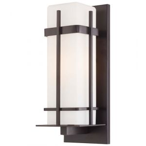 """The Great Outdoors Sterling Heights 16"""" Outdoor Wall Light in Dorian Bronze"""