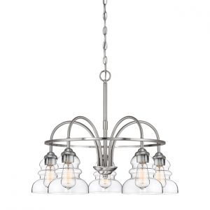 Millennium Lighting 7000 Series 5-Light Chandelier in Satin Nickel