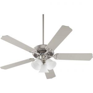 "Quorum Capri VI 52"" 3-Light Indoor Ceiling Fan in Satin Nickel"