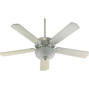"Quorum Capri III 52"" 2-Light Ceiling Fan Unipack in Studio White"