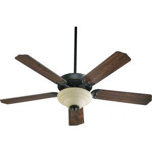 """Quorum Capri III 52"""" 2-Light Indoor Ceiling Fan in Old World/Walnut"""