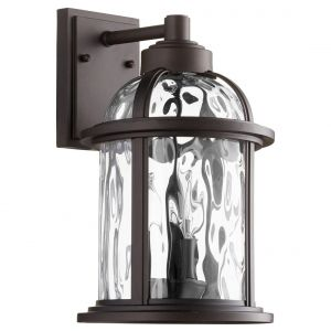 "Quorum Winston 15"" 3-Light Outdoor Wall Lantern in Oiled Bronze"
