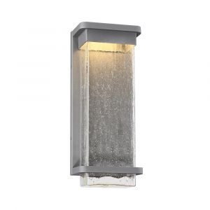 Modern Forms Vitrine 1-Light Outdoor Wall Light in Graphite