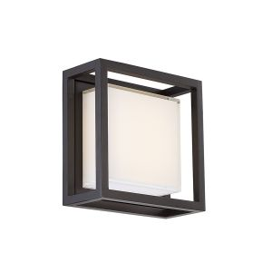 Modern Forms Framed 1-Light Outdoor Wall Light in Bronze