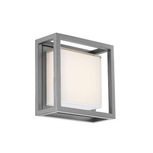Modern Forms Framed 1-Light Outdoor Wall Light in Graphite