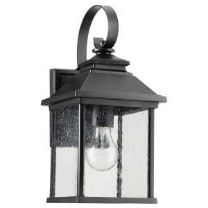 "Quorum Pearson 14"" Outdoor Wall Lantern in Noir"