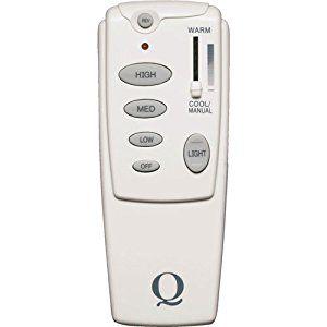 Quorum Fan Accessories Hand Held Single Fan Remote Control in White