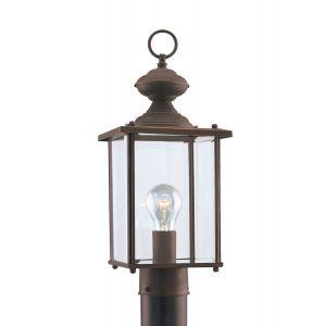 Sea Gull Lighting Jamestowne 1-Light Outdoor Post Lantern in Antique Bronze