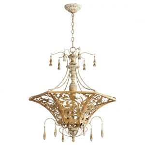 "Quorum International Leduc 6-Light 27"" Pendant Light in Florentine Gold"