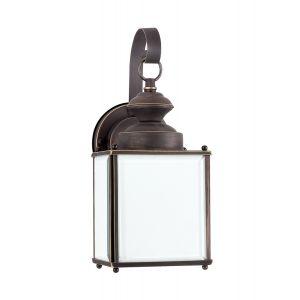 Sea Gull Lighting Jamestowne 1-Light Outdoor Wall Lantern in Antique Bronze