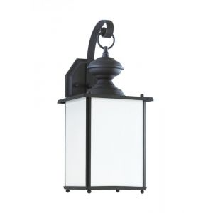 Sea Gull Lighting Jamestowne One Light Outdoor Wall Lantern in Black