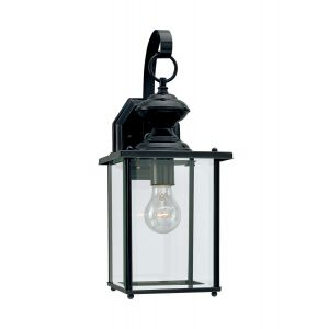 Sea Gull Lighting Jamestowne 1-Light Outdoor Wall Lantern in Black