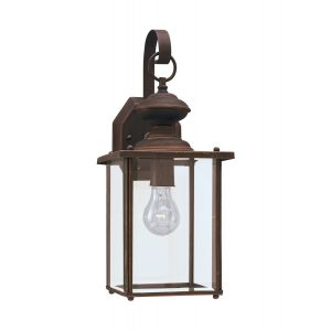 Sea Gull Lighting Jamestowne 1-Light Outdoor Wall Lantern in Antique Bronze