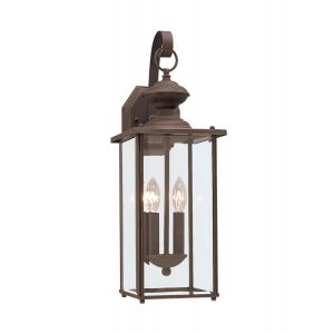 Sea Gull Lighting Jamestowne 2-Light Outdoor Wall Lantern in Antique Bronze