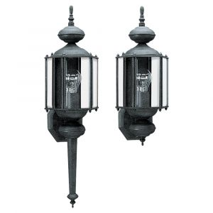 Sea Gull Lighting Classico 1-Light Outdoor Wall Lantern in Black